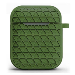 Net Mesh Design Hybrid Protective Case Cover for Apple Airpods 2 / 1 (Green)