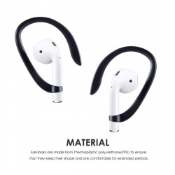 AirPods EarHook for Apple AirPods Great for Running, Jogging, Cycling, Gym and Other Activities (Black)