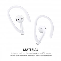 AirPods EarHook for Apple AirPods Great for Running, Jogging, Cycling, Gym and Other Activities (White)