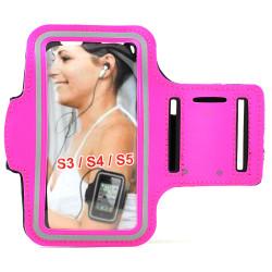 Samsung Galaxy S5 S4 S3 Sports Armband (Hot Pink)