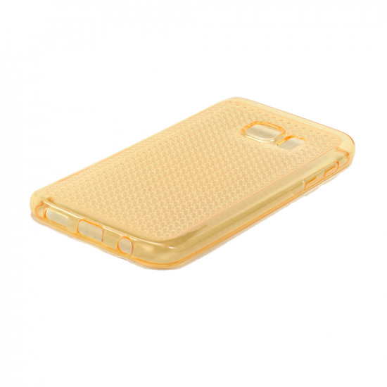 Samsung Galaxy S7 Edge Shiny TPU Soft Case (Golden Yellow)