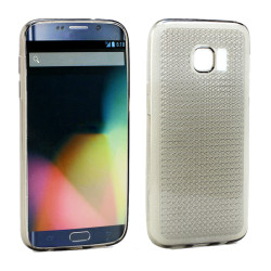 Samsung Galaxy S7 Edge Shiny TPU Soft Case (Smoke)